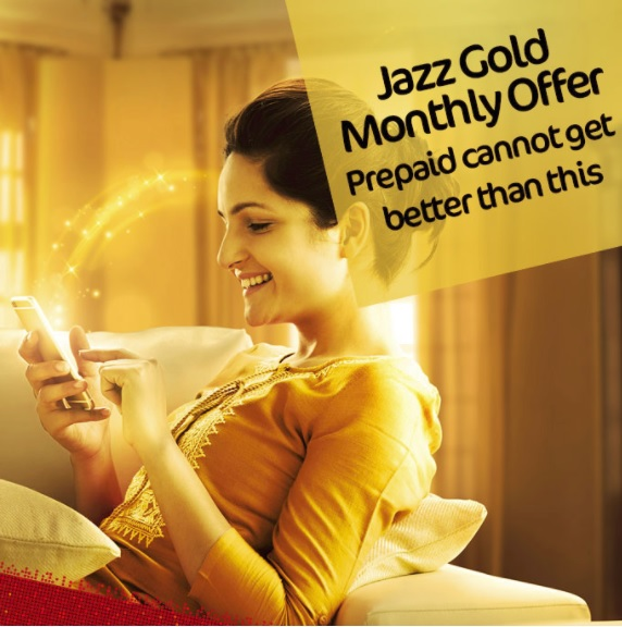 Mobilink Jazz Gold Monthly Offer 2019