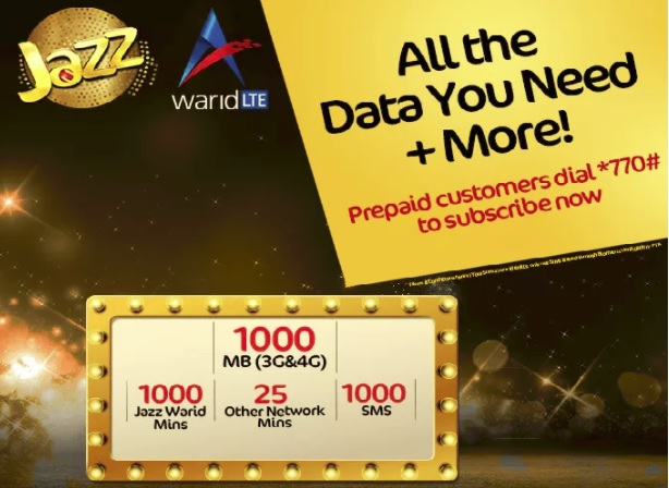 Mobilink Jazz Weekly Gold Plus Package 2019