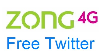 Zong Twitter 3G/ 4G Free Internet Package 2018