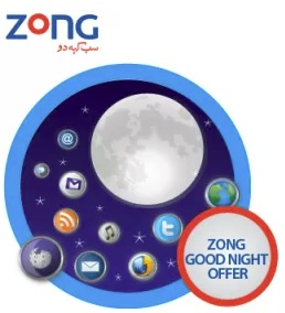 Zong Good Night 3G / 4G Internet Package 2018