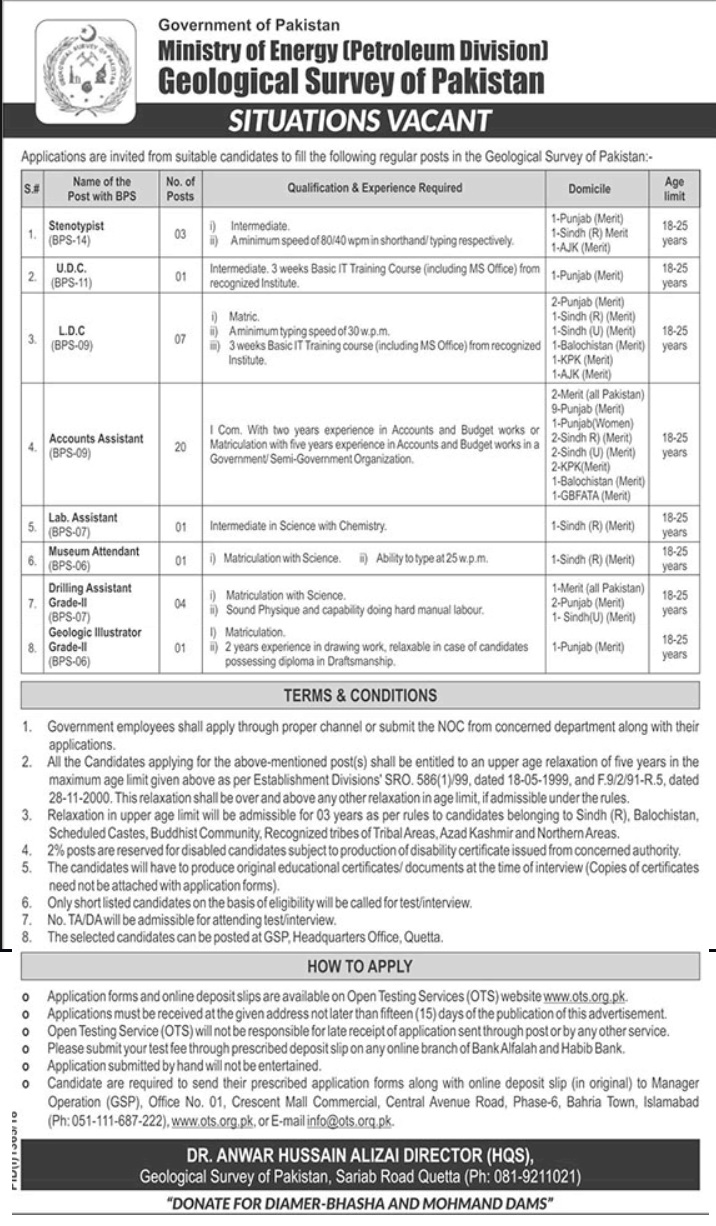Photo of Jobs in Ministry of Energy (Petroleum Division) of Pakistan