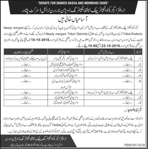 Jobs in Public Health Engineering Department KPK