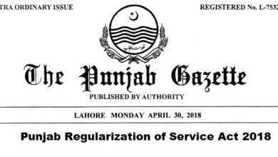Photo of Download Punjab Regularization of Service Act 2018